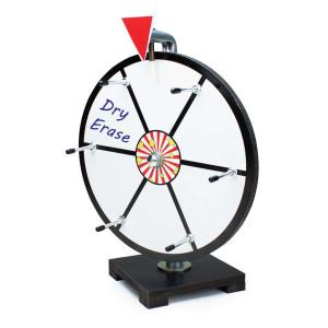 12 Inch Mini Dry Erase White Prize Wheel Entry Level