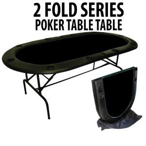2 Fold Series 10 Player Folding Poker Table BLACK