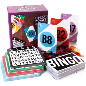 Bingo Royale Bundle: 1,000 Chips, 100 Cards, and a Jumbo Deck of Calling Cards by Royal Bingo Supplies
