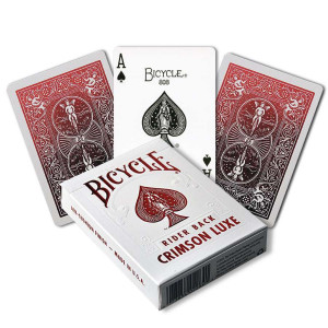 Bicycle Playing Cards CRIMSON LUXE - 1 RED Deck MetalLuxe Rider Back