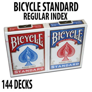 Bicycle Rider Back Plastic Coated Playing Cards 144 Decks Red & Blue Standard