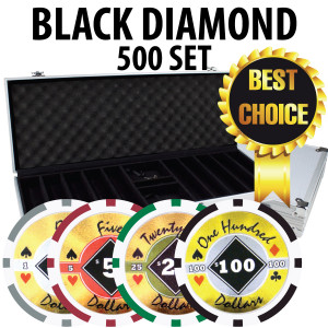 Black Diamond Poker Chips 500 W/ Aluminum Case