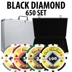 Black Diamond Poker Chips 650 W/ Aluminum Case