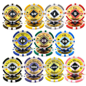 Black Diamond Poker Chips 14g Holographic Chips : Sold by the roll