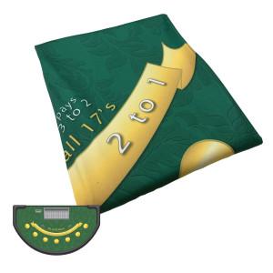 Dye Sublimation Blackjack Table Cloth Layout - Casino Grade Felt