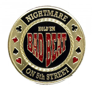 Poker Protector Card Guard Cover in Capsule :  Bad Beat Nightmare on 5th Street