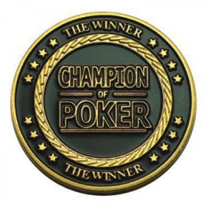 Poker Protector Card Guard Cover in Capsule :  Champion of Poker The Winner