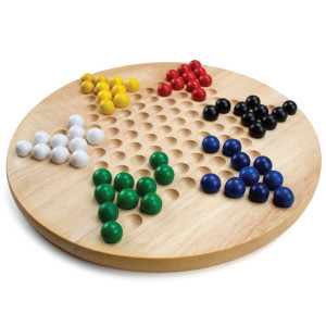 Wood Chinese Checkers with Wooden Marbles