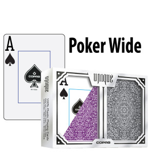 Copag Playing Cards Unique Design Poker Purple/Grey Jumbo Index