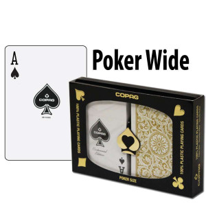 Copag Playing Cards Elite Poker Black/Gold Regular Index