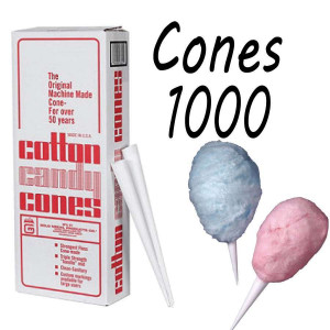 Cotton Candy Floss cones Box of 1000