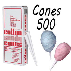 Cotton Candy Floss cones Box of 500