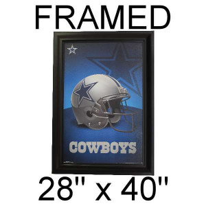 Poker Room art decor Framed Art  : Dallas Cowboys