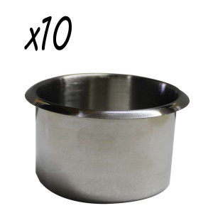 Stainless Steel Jumbo size Cup Holder Pack of 10