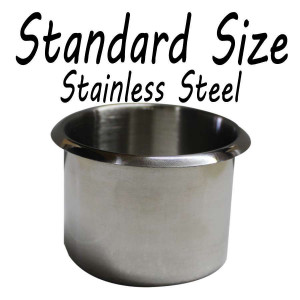 Stainless Steel Standard size Cup Holder for Poker or Blackjack Table
