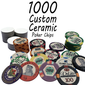 Custom Ceramic Poker Chips 10g Chips : 1000 chips