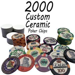 Custom Ceramic Poker Chips 10g Chips : 2000 chips