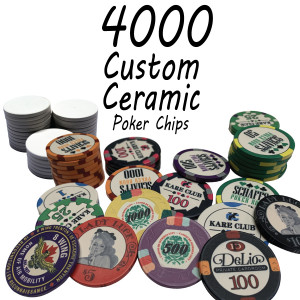 Custom Ceramic Poker Chips 10g Chips : 4000 chips