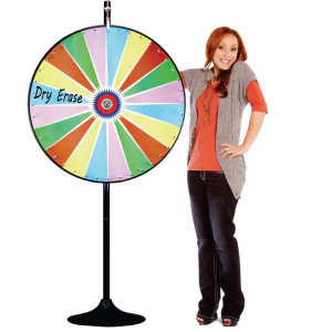 36 Inch Dry Erase Colour Prize Wheel  with Bonus Extension Base