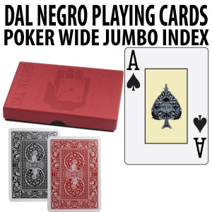 Dal Negro Monkey Plastic Playing Cards Poker Jumbo index