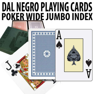 Dal Negro Texas Holdem Plastic Playing Cards Poker Jumbo index