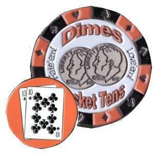 Poker Protector Card Guard Cover : 10-10 Dimes