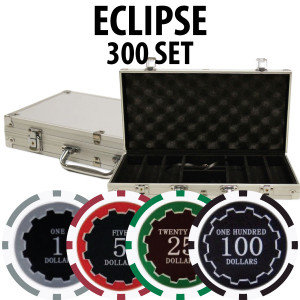 Eclipse Poker Chips 300 W/ Aluminum Case