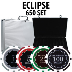 Eclipse Poker Chips 650 W/ Aluminum Case