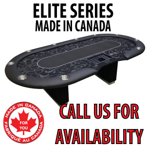 POKER TABLE SPS ELITE - Black Dealer Table With Box Style Legs
