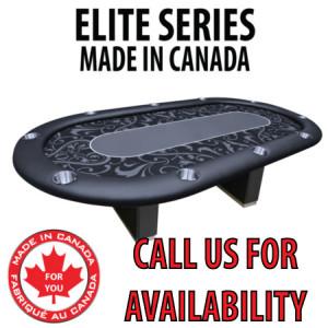 POKER TABLE SPS ELITE - Black Full Bumper Table With Box Style Legs