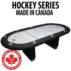 Hockey Themed : Manhattan Poker Table with Dye Sub Cloth
