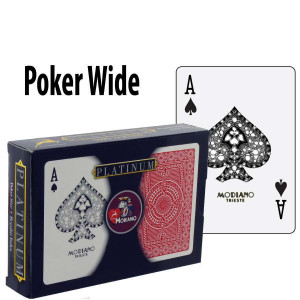 Modiano Playing Cards Platinum Acetate Poker Wide Regular Index