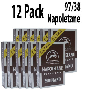 12 PACK Italian Regional Playing Cards : Modiano Napoletane 97/38