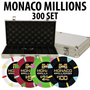 Monaco Millions 300 Poker Chip Set with Alum case