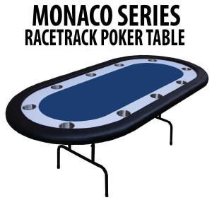 Blue Racetrack Poker Table