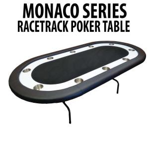 Black Racetrack Poker Table