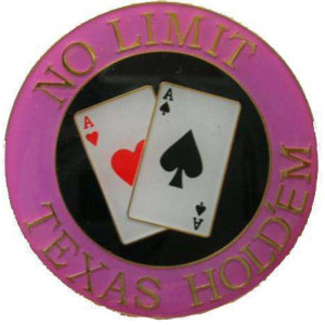 Poker Protector Card Guard Cover : No Limit Texas Holdem Pink