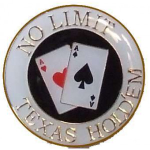 Poker Protector Card Guard Cover : No Limit Texas Holdem White