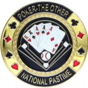 Poker Protector Card Guard Cover in Capsule :  National Pastime