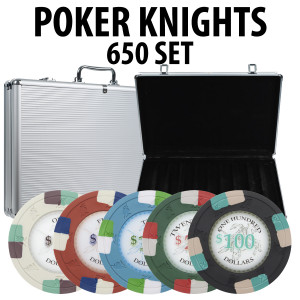 Poker Knights 650 Poker Chip Set W/ Aluminum Case
