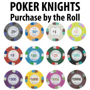 Poker Knights Poker Chips : 14g Chips : Sold by the roll
