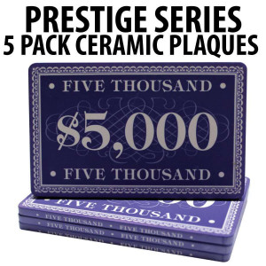 Prestige Series Ceramic Poker Chip Plaques $5000  Pack of 5