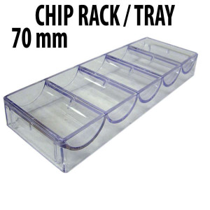 100 CAPACITY : Casino Poker Chip Stackable Acrylic Racks Standard