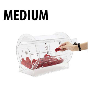 Raffle Drum ACRYLIC MEDIUM Holders up to 5,000 Tickets