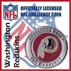 Poker Protector Card Guard Cover : NFL Washington Redskins