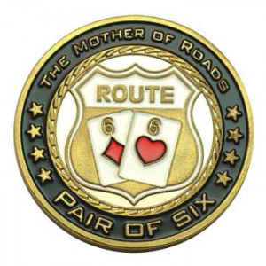 Poker Protector Card Guard Cover in Capsule :  Route 66