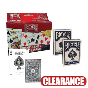 Bicycle Playing Cards Rummy 2 Pack Set CLEARANCE