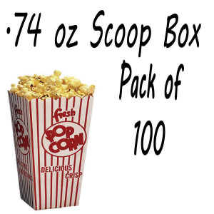 100 POPCORN SCOOP BOX - .74 OZ