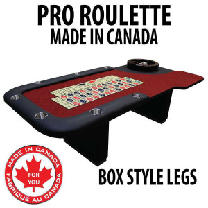 Professional Series Roulette Table with Casino Grade Dye Sub Cloth