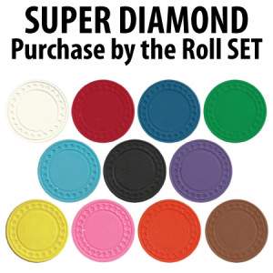 Super Diamond 9g Poker Chip rolls